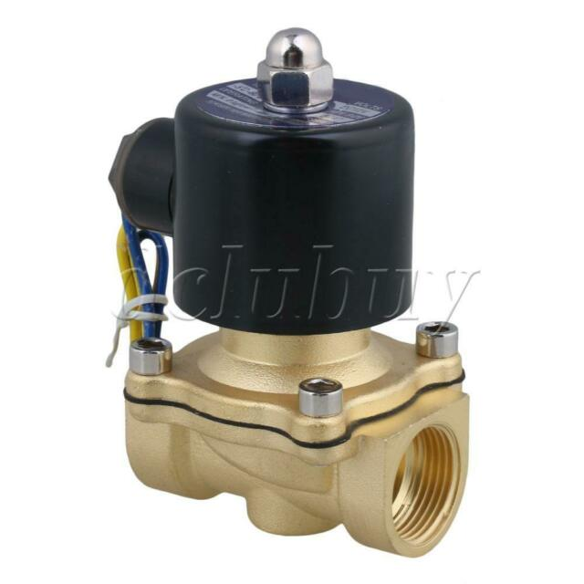 """DC 12V 3/4"""" Normally Closed Solenoid Valve Gas Water Air Black"""