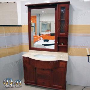 Mobile da bagno arte povera ciliegio PIESSSE da 105cm top in marmo art. TENERIFE