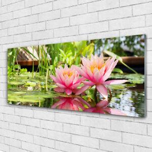 Wandbilder Glasbilder Druck auf Glas 125x50 Blumen Aquarell Pflanzen