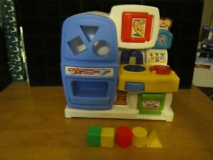 Details about VINTAGE Little Tikes PLAY Kitchen REFRIGERATOR STOVE  MICROWAVE SINK.15X14\