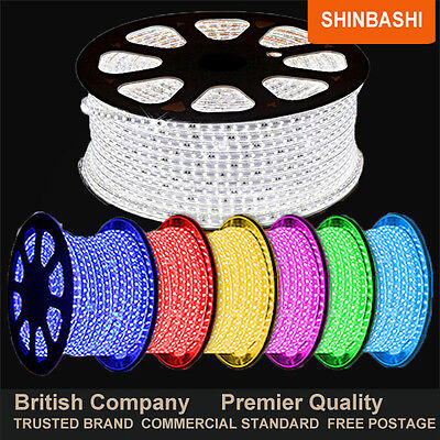 PREMIER LED 240V RGB SMD 5050 Ribbon Strip Rope Lights White Blue Yellow Purple