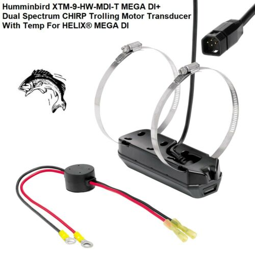 Dual Spectrum CHIRP Trolling Motor Transducer Humminbird XTM-9-HW-MDI-T MEGA DI