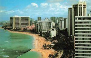 Details About Postcard Waikiki Beach Hotels Hawaii