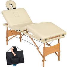 Table de massage 4 zones cosmetique lit esthetique pliante bois reiki beige +sac