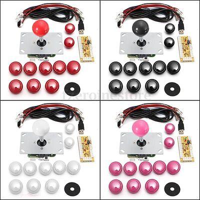 Zero Delay Arcade MAME JAMMA Joystick DIY Kits USB PC Encoder & 10pcs Buttons