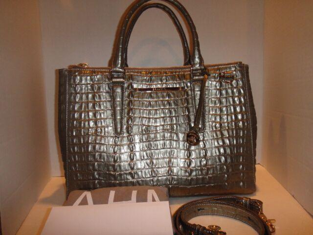 Brahmin Small Lincoln Pyrite La Scala Leather Satchel Bag Purse L60626pq