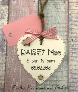PERSONALISED-WOODEN-PLAQUE-CHRISTENING-NEW-BORN-BABY-SHOWER-GIFT-GIRL-BOY