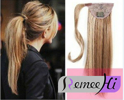 Beyonce Clip in Remy Human Hair High Ponytail drawstring/ wrap around extension