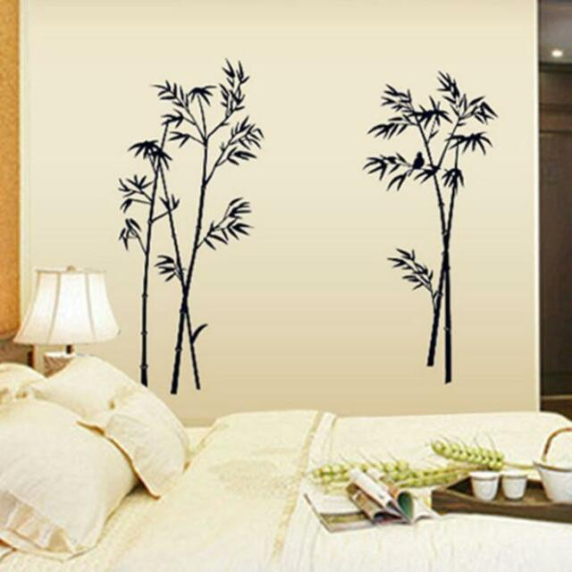 DIY Removable Bamboo PVC Vinyl Art Wall Stickers Home Room Mural Decor Наклейки