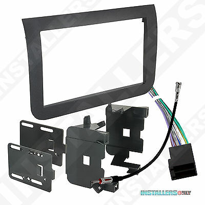 Aftermarket Double-DIn Car Stereo Mount Radio Install Kit with Wires for Rogue