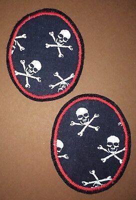 3 Stück Ovale Aufnäher Bügelbild Applikation Stickerei Patch Abzeichen