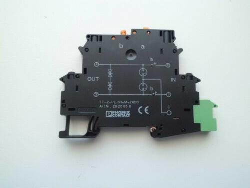 Phönix Überspannungsschutz Blitzschutz TT-2-PE//S1-24DC Top Zustand