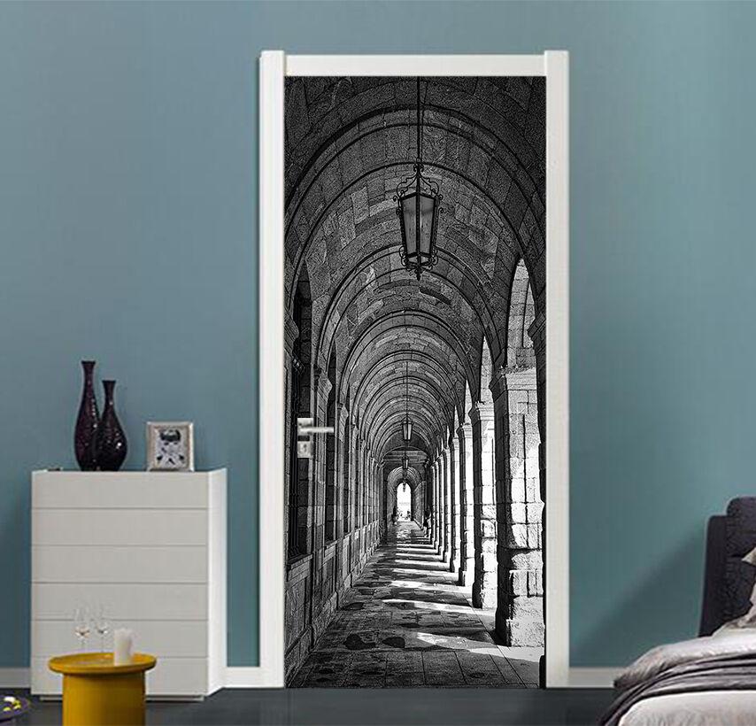 3D Korridor 88 Tür Wandmalerei Wandaufkleber Aufkleber AJ WALLPAPER DE Kyra | Die Farbe ist sehr auffällig  | Billig ideal  | Exquisite Verarbeitung