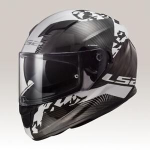 LS2-HYPE-Mattschwarz-Titan-Motorrad-Helm-Integralhelm-Kart-Sport