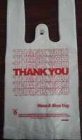600 Ct Plastic Shopping Bags T-shirt Type, Grocery White Small Size Bags.