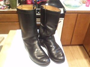 Dayton Motorcycle Boots Very Nice Mens Sz 7 D Zipper And Velcro