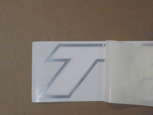 """60"""" TROPHY SCRIPT DECAL ARTIC WHITE WITH SILVER TRIM"""