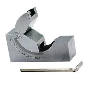 0-60 Degree Adjustable Angle V Block Machinist Tool 0-60° 0-60 Degree