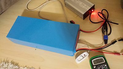 lithium 72V 15AH ultra light battery pack w BMS and charger