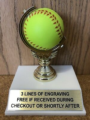 BASEBALL GLOVE TROPHY FREE ENGRAVING EASY ASSEMBLY REQUIRED