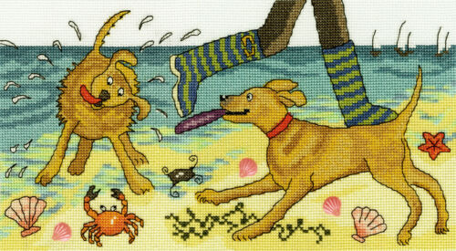 Bothy Threads ~ Counted Cross Stitch Kit ~ Beach Walkies ~ Dogs ~ XJR30