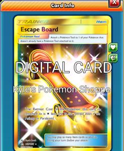 Escape Board SR Pokemon TCG Online PTCGO SENT FAST 167/156 SECRET RARE