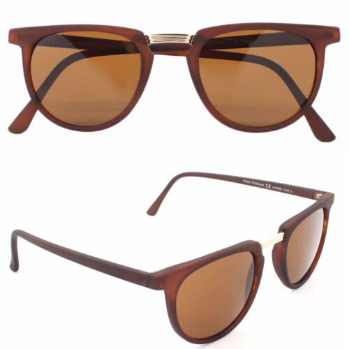 Thin Frame Horn Rimmed Keyhole Flat Top Classic Men Ladies Sunglasses Hipster