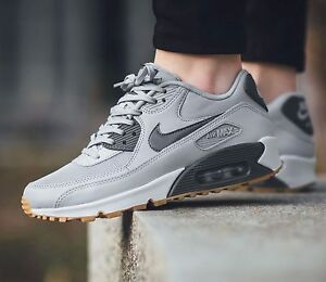 huge discount c2e3b ec965 Image is loading Nike-Air-Max-90-Essential-Wolf-Grey-Pure-
