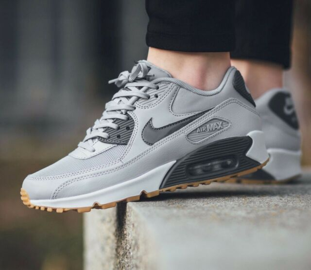 f75e3747b388 Nike Air Max 90 Essential Wolf Grey Pure Platinum 616730-024 Wmn Sz 7.5