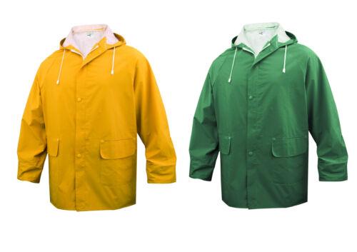 DELTA Plus Panoply en304 rivestito in PVC Impermeabile RainSuit Pantaloni Giacca Cappotto