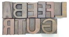Letterpress Letter Wood Type Printers Block Lot Of 10 Typography Eb 230