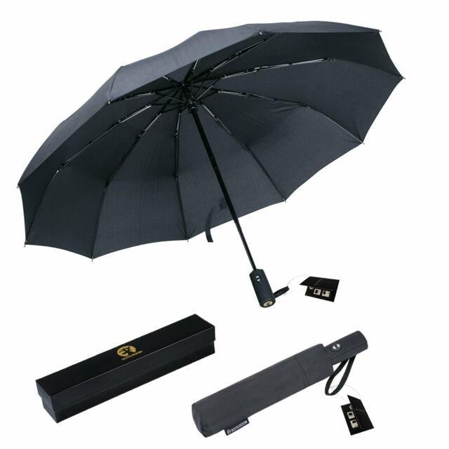Large Umbrella Travel New Premium Umbrella Windproof Compact Umbrella Aut...
