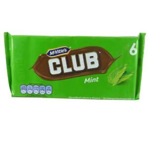 Details About Mcvities Club Mint Biscuit Bars 6 X 22g 132g X 12 Packs Pmp