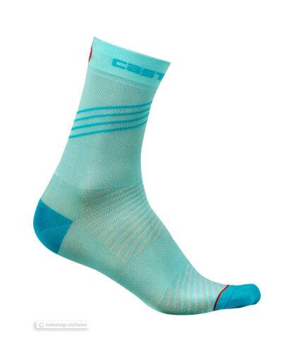Aruba Blue une paire Castelli ALTA W Femme Cyclisme Chaussettes