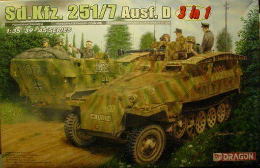 KIT DRAGON 1 35 VEICOLO SEMICINGOLATO Sd.kfz.251 7 Ausf.D ( 3 in 1)  ART. 6223