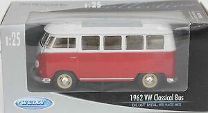 JOUET-ANCIEN-EN-METAL-WELLY-1962-VW-CLASSICAL-BUS-1-25-17-cm