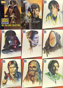 Star-Wars-Galaxy-Series-1-Complete-140-Trading-Card-Set-1993-Topps-NM
