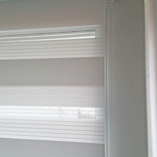 Klemmfix Duo-Rollo 130x160 cm beige Vario Doppelrollo ohne Bohren Seitenzug