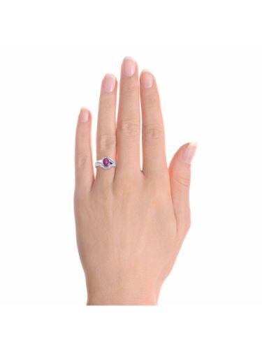 Diamond /& Star Ruby Ring Set En Argent Sterling-Couleur de pierre pierre de naissance Bague DS