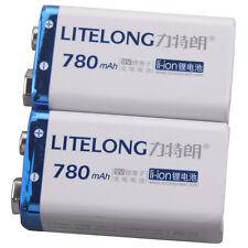 2 PILES RECHARGEABLE Accu Battery Pile Accus 9V - Li-ion 780Mah