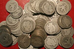 Circulated 90/% Silver Choose How Many 3 1892-1916 Barber Head Dimes Lot of