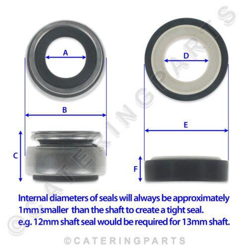 COMENDA 630514 MECHANICAL PUMP SHAFT SEAL 11mm BONNET ELETTROBAR OMNIWASH RHIMA