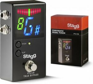 Details about Stagg Chromatic Guitar And Bass Metal Body Pedal Tuner PTU-C8