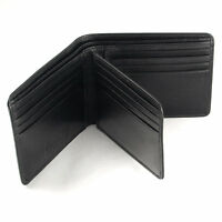 Leather Gent's Wallet In Smooth Nappa Black Leather By Golunski