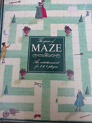 THE GAME OF MAZE 1990 OXFORD WOODEN PIECES GAME  BOARDGAME FAMILY VGC COMPLETE