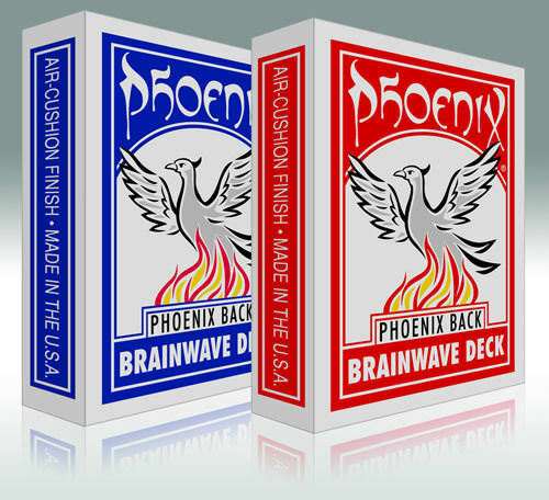 """Bicycle Standard"" The Phoenix Brainwave Deck Red"