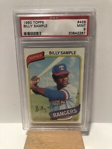 1980-Topps-Billy-Sample-Texas-Rangers-All-Star-Rookie-Cup-PSA-9