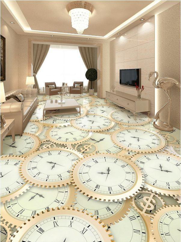 3D campana tavolo Pavimento Foto Wallpaper Murales Muro Stampa Decalcomania