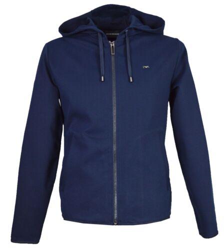 Navy en S8n1bn2 Blue Emporio heren volledige met Armani ritssluiting voor sweatshirt capuchon nI1TPq