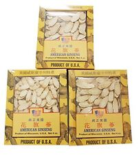 High Quality Wisconsin American Ginseng Roots into Slice 4OZ Box Set of 3  Gift